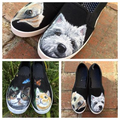 c189bbce52 Custom Pet Portraits Custom Hand-Painted Shoes. Dogs