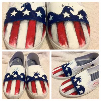 aa3e93dd4098f8 America Painted Shoes