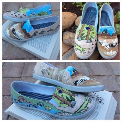 c31101e6532d3f Darwin Custom Hand-Painted Shoes. Charles Darwin Evolution. Additive