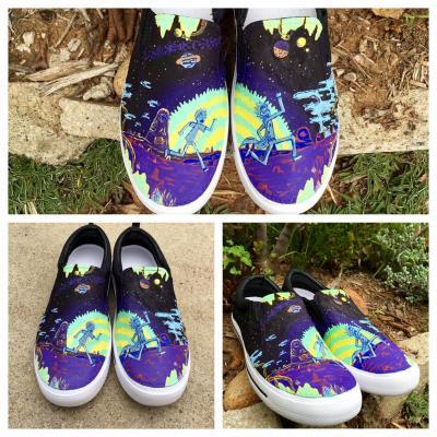 50e50bbe547e Rick and Morty Shoes. Acrylic